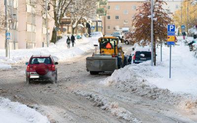 Stora krav på snabb snöröjning